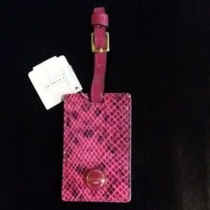 NWT Coach Snake Print Luggage Tag